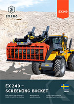exero ex240 screening bucket product sheet