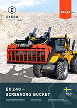 exero ex240 screening bucket product sheet